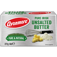 Avonmore Irish Creamery Unsalted Butter
